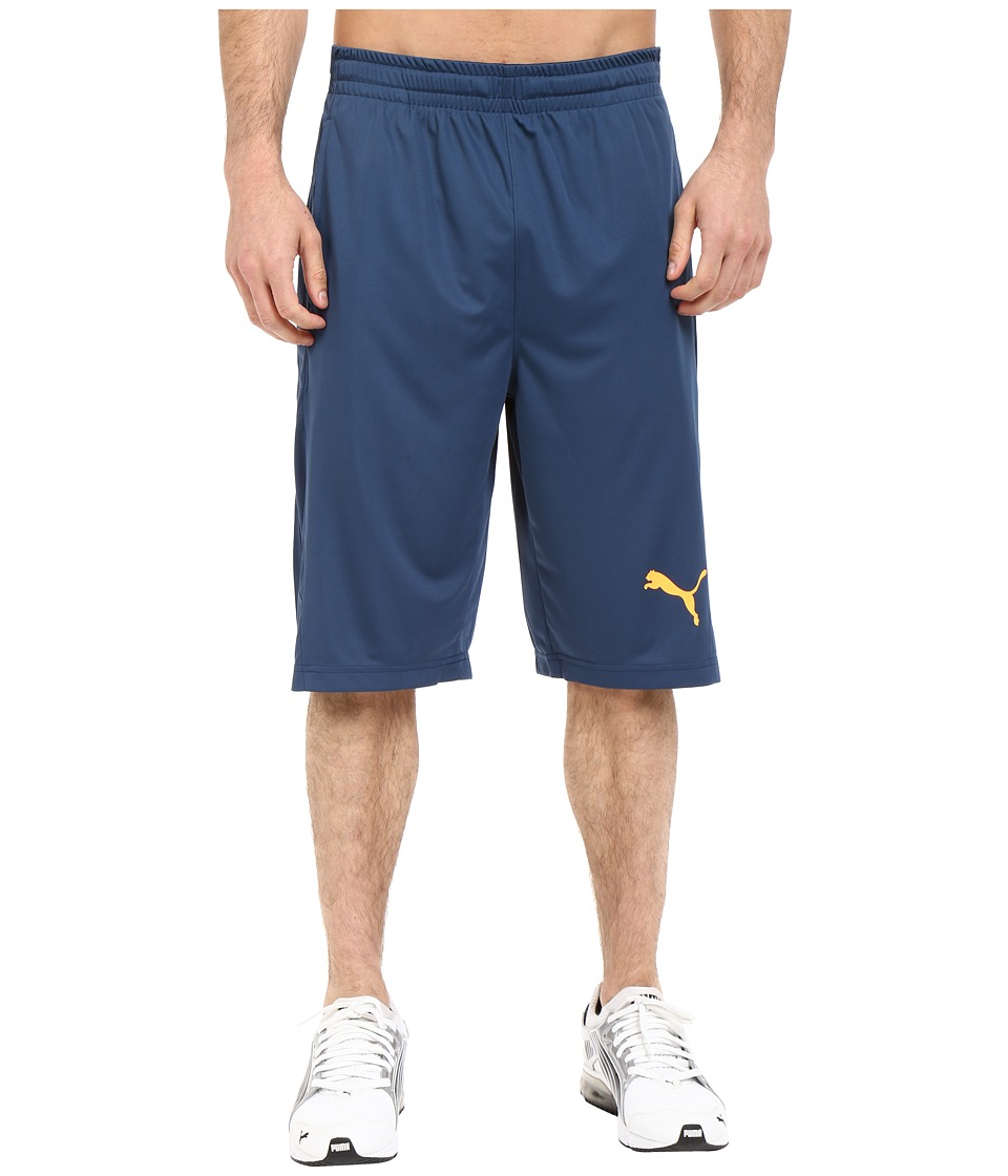 PUMA - Mixed Material Shorts (Blue Wing Teal) Men's Shorts