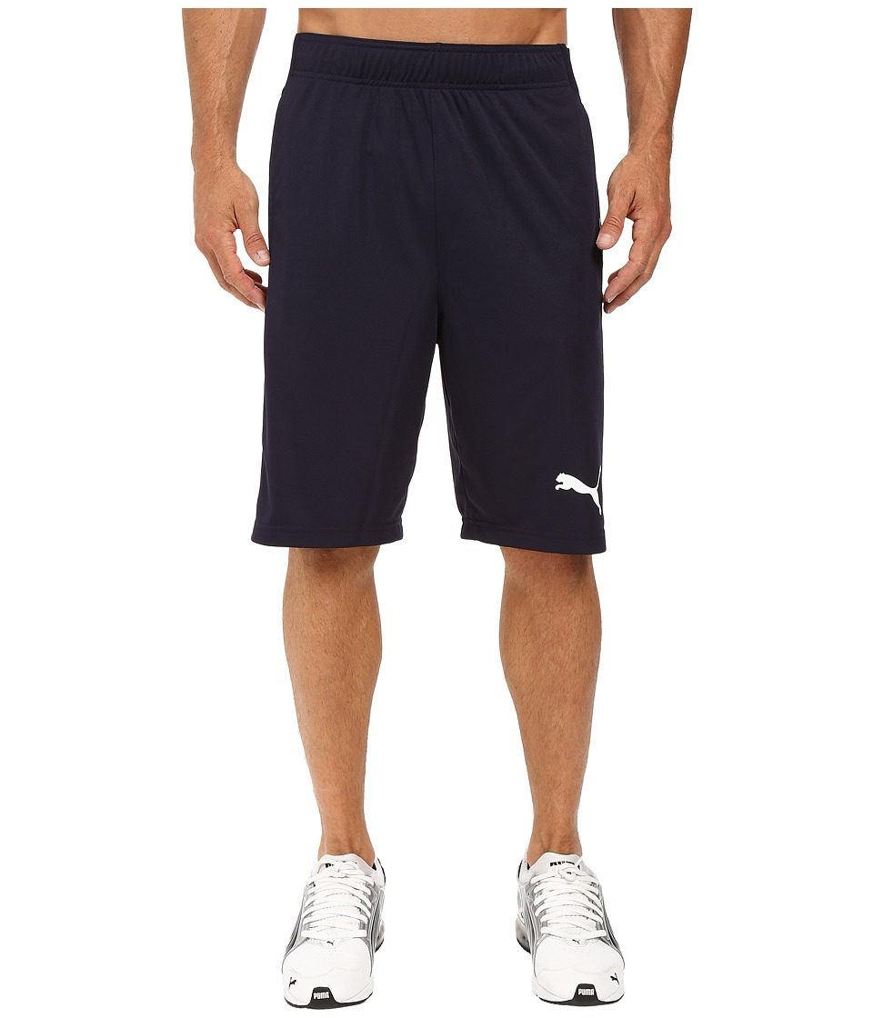 PUMA - Tilted Formstripe Shorts (New Navy/Black/White) Men's Shorts