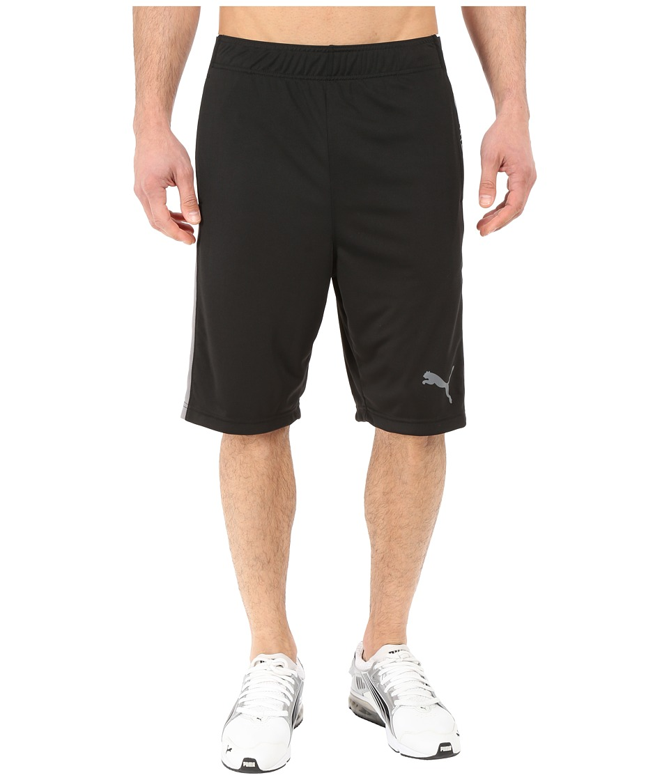 PUMA - Tilted Formstripe Shorts (Black/Smoked Pearl) Men's Shorts