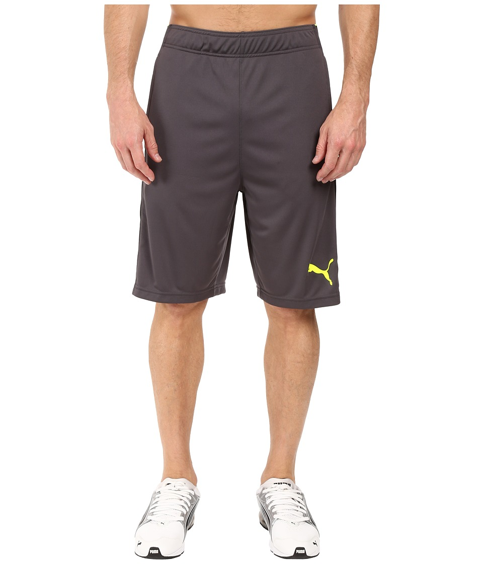 PUMA - Tilted Formstripe Shorts (Asphalt/Black/Safety Yellow) Men's Shorts
