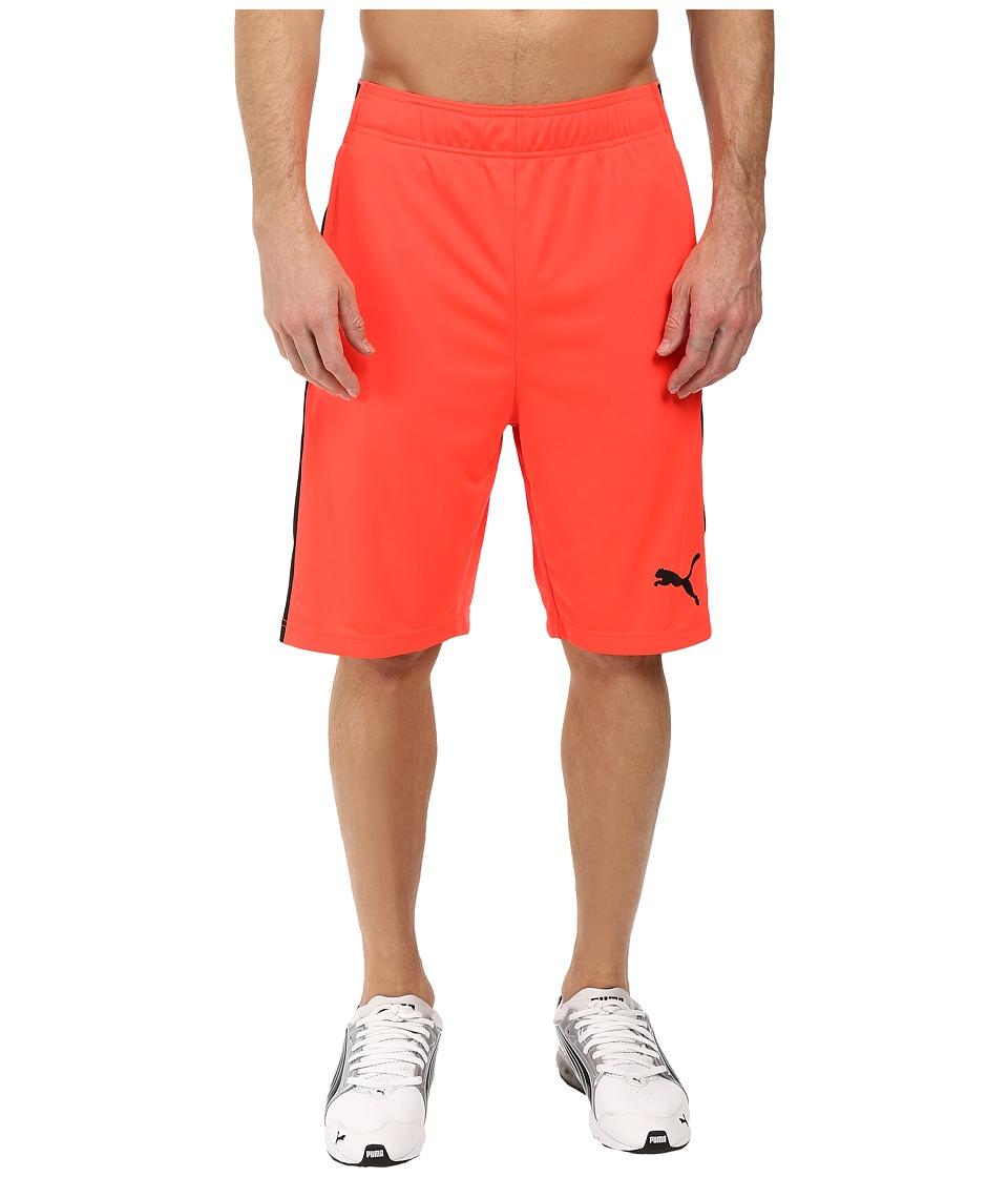 PUMA - Tilted Formstripe Shorts (Red Blast/Black) Men's Shorts