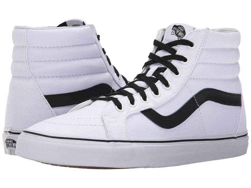 Vans SK8-Hi Reissue ((Canvas) True White/Black) Skate Shoes