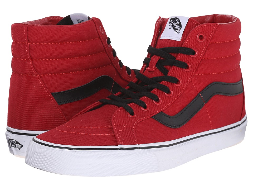Vans - SK8-Hi Reissue ((Canvas) Chili Pepper/Black) Skate Shoes