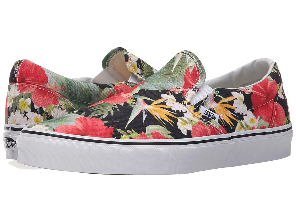 Vans - Classic Slip-On ((Digi Aloha) Black/True White) Skate Shoes