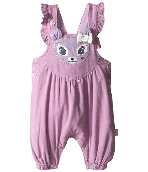 Pumpkin Patch Kids - Finding Anastasia Babycord Deer Dungarees (Infant) (Lupin) Girl's Overalls One Piece