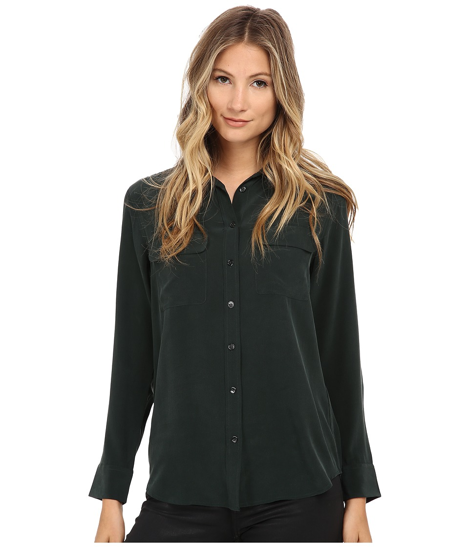 EQUIPMENT - Slim Signature Blouse (Scarab) Women's Blouse