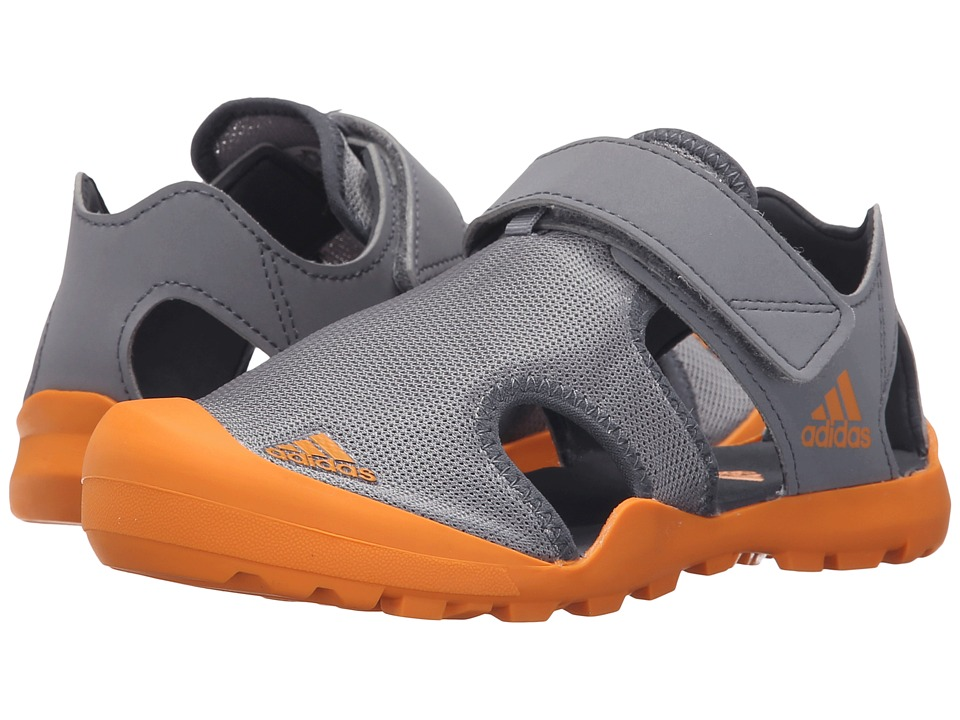 adidas Outdoor Kids Captain Toey (Toddler/Little Kid/Big Kid) (Grey/EQT Orange/Onix) Boys Shoes