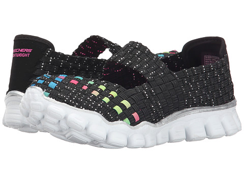 SKECHERS KIDS - Skech Flex II - Yes Please (Little Kid/Big Kid) (Black Multi) Girls Shoes