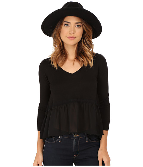 French Connection - Ripple Knits (Black/Black) Women's Clothing