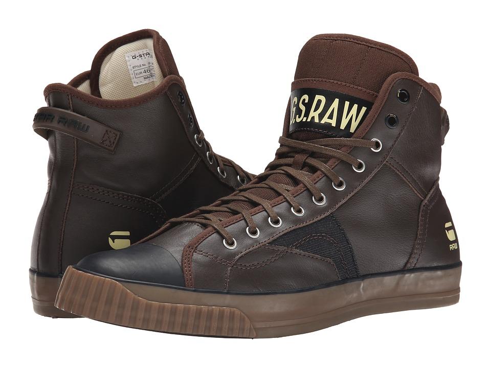 G-Star - Campus Scott Leather (Dark Brown) Men