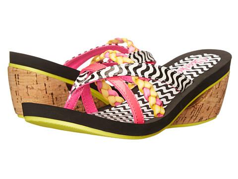 SKECHERS KIDS - Lock Key - Beachy Braids (Little Kid/Big Kid) (Black Multi) Girls Shoes