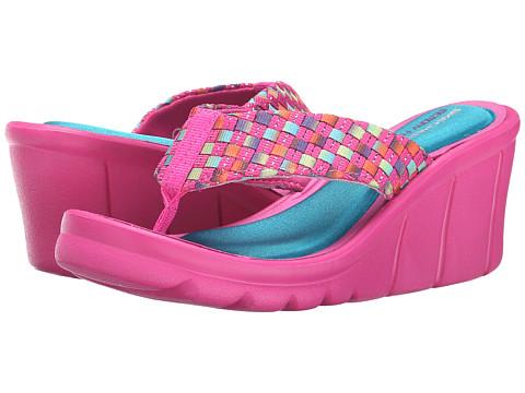 SKECHERS KIDS - The Promenade - Fun-N-Sun (Little Kid/Big Kid) (Hot Pink Multi) Girls Shoes