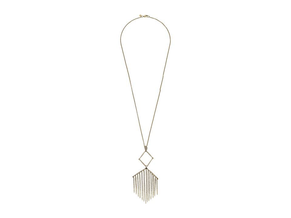Alexis Bittar - Articulating Pendant w/ Encrusted Metal Fringe Necklace (10K Gold) Necklace