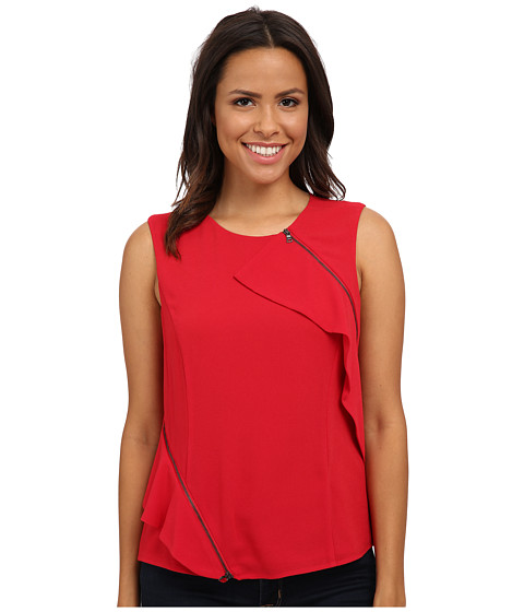BCBGMAXAZRIA - Leslee Woven Top (Ruby Red) Women