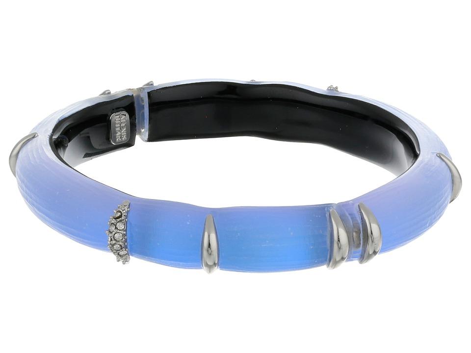 Alexis Bittar - Liquid Stripe w/ Crystal Accents Hinge Bracelet (Iridescent Ice Blue) Bracelet
