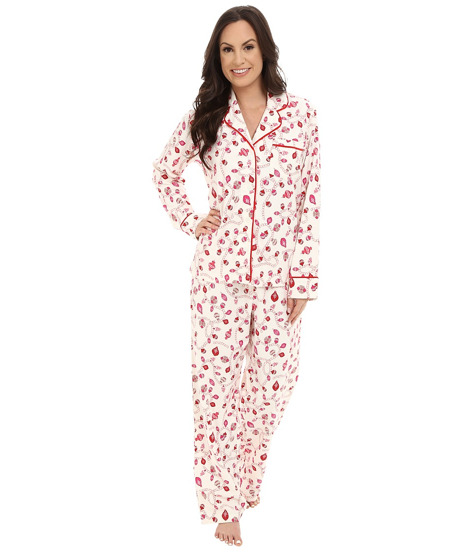 Carole Hochman - Flannel Pajama (Holiday Pearls/Ivory) Women