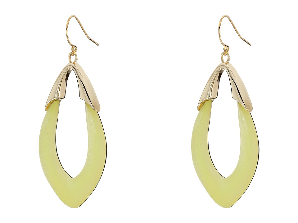Alexis Bittar - Gold Orbit Link Wire Earrings (Iridescent Zest) Earring