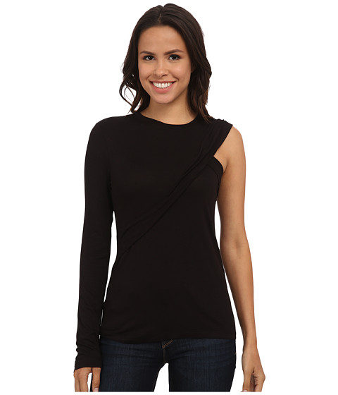 BCBGMAXAZRIA - Alison Knit Top (Black) Women's Clothing