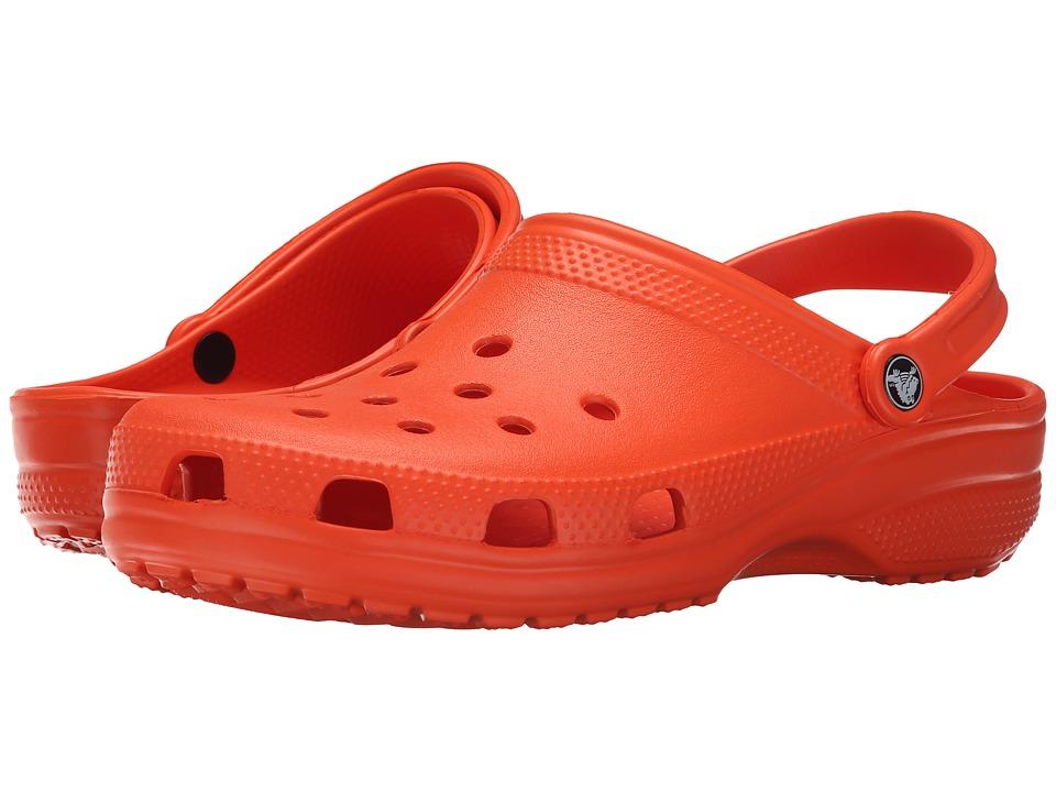 Crocs - Classic (Cayman) - Unisex (Tangerine) Clog Shoes
