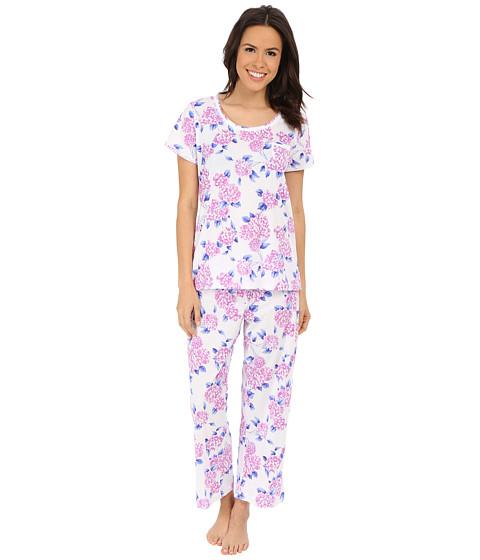 Carole Hochman - Key Item Capri Pajama (Hydrangea Fields) Women's Pajama Sets