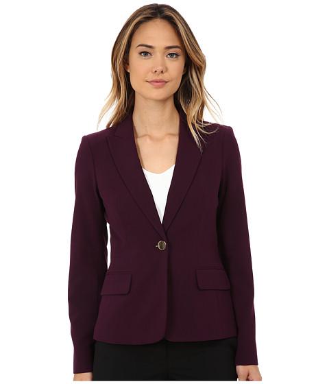 Calvin Klein - Solid One Button Jacket (Aubergine) Women