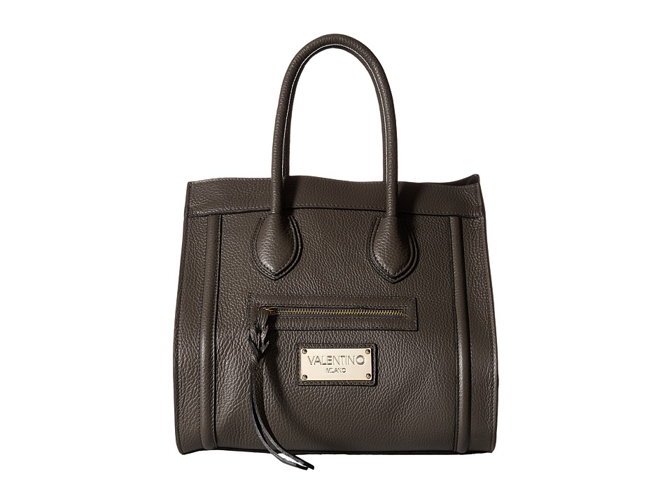 Valentino Bags by Mario Valentino - Cynthia (Dark Grey) Satchel Handbags