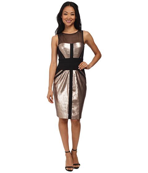 BCBGMAXAZRIA - Reina Knit Evening Dress (Rose Gold Combo) Women