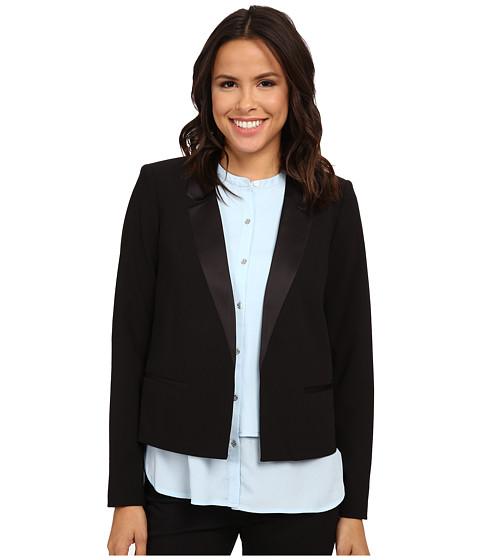 Calvin Klein - Satin Detail Jacket (Black) Women