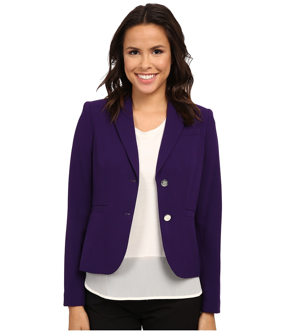 Calvin Klein - Solid Two Button Jacket (Night) Women's Jacket
