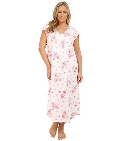 Carole Hochman - Plus Size Floral Long Gown (Cascading Floral) Women's Pajama
