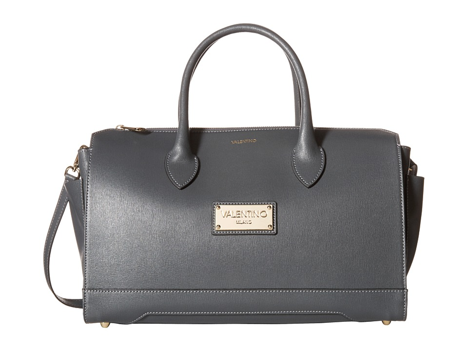 Valentino Bags by Mario Valentino - Lilly (Dark Grey) Satchel Handbags