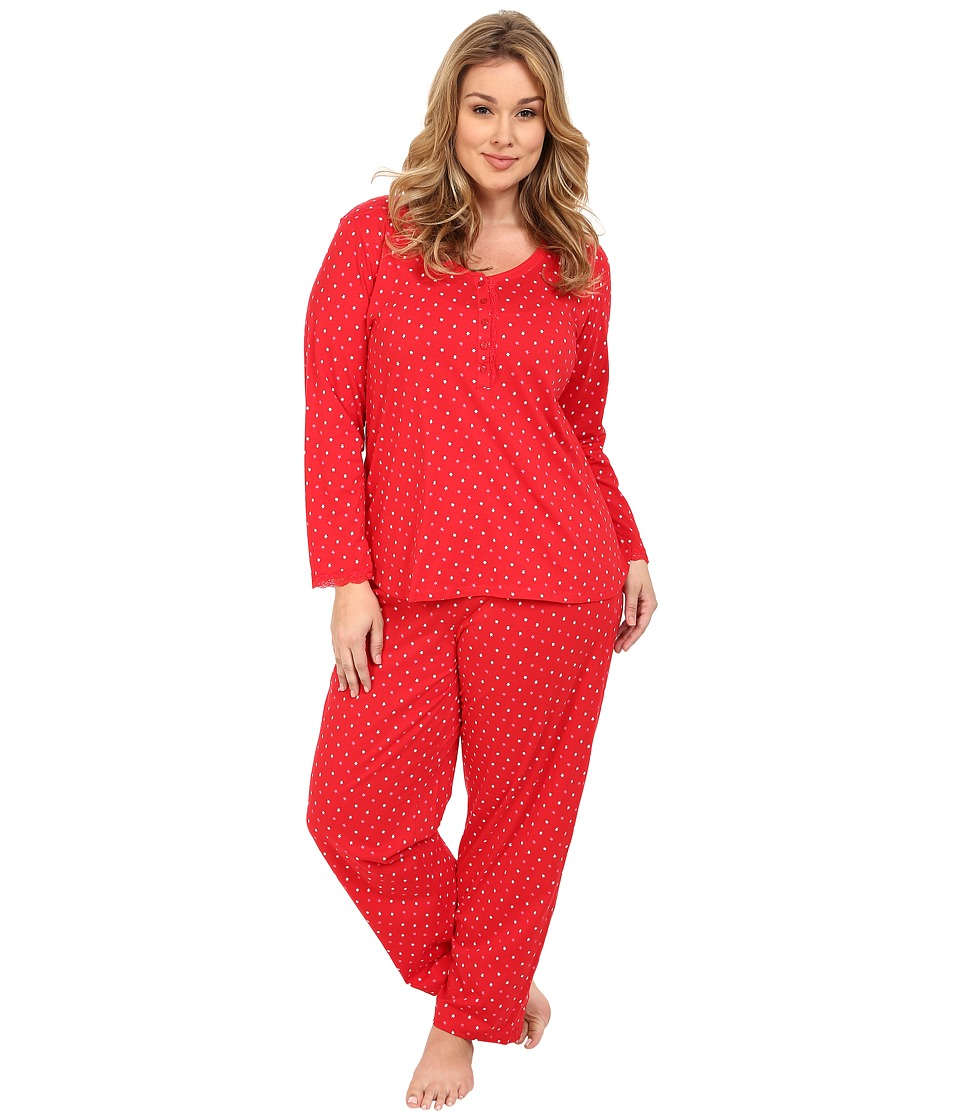 Carole Hochman - Plus Size Key Item Pajama (Floating Stars) Women's Pajama Sets