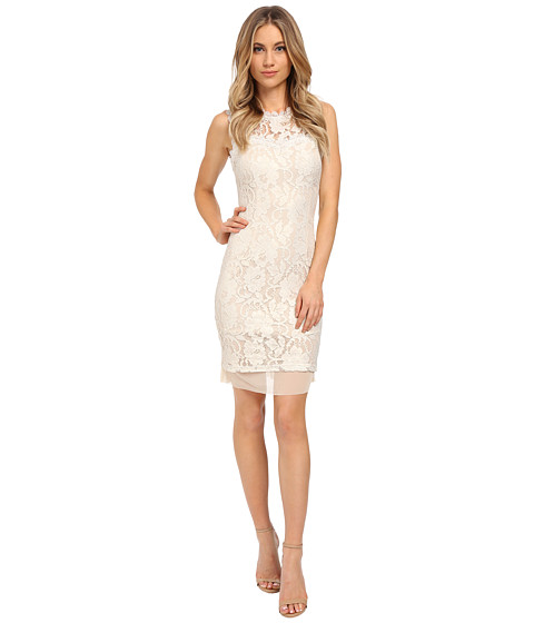 Brigitte Bailey - Brilliance Lace Dress (White Lace) Women's Dress
