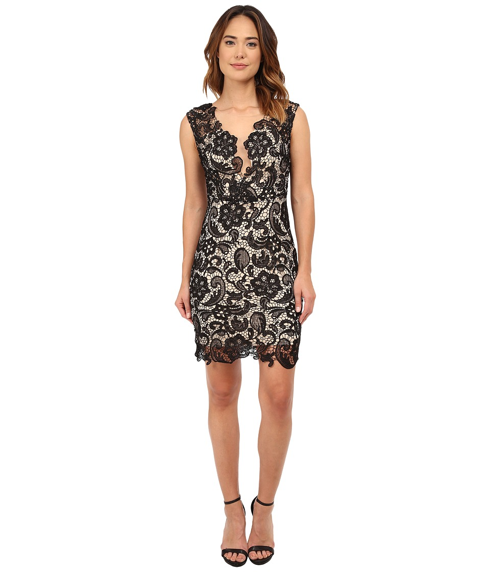 Brigitte Bailey - Lace Cutout Dress (Black Lace) Women's Dress
