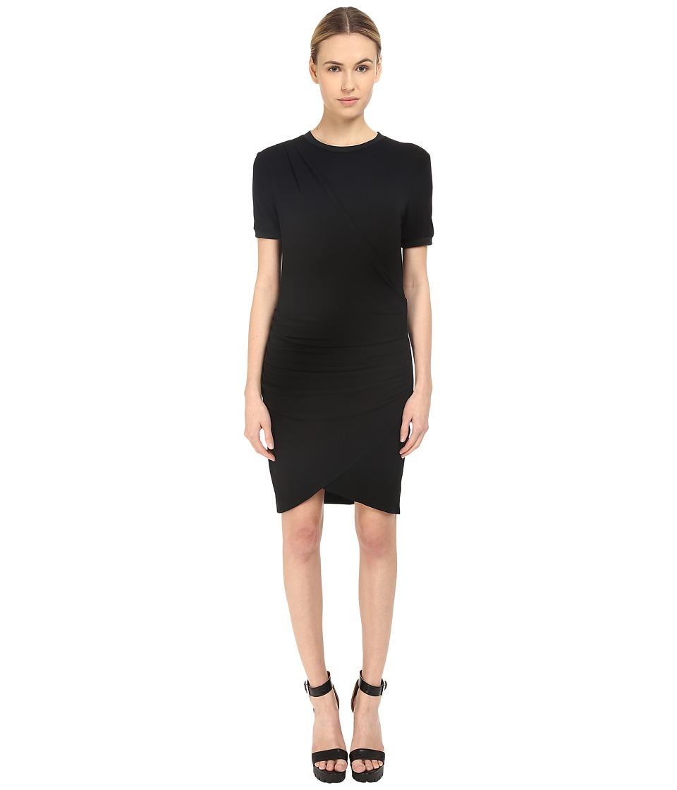 The Kooples Crepe Stretch Dress (Black) Women