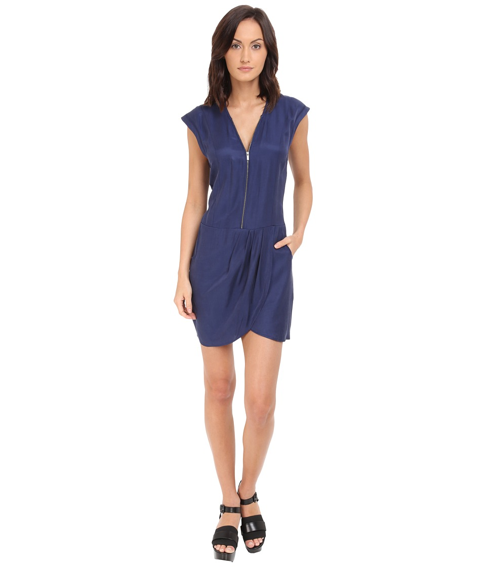 The Kooples - Cupro Dress (Blue) Women's Dress