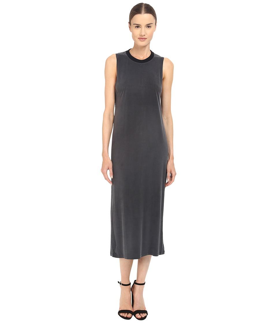 The Kooples - Cupro Jersey Rib Dress (Black) Women's Dress