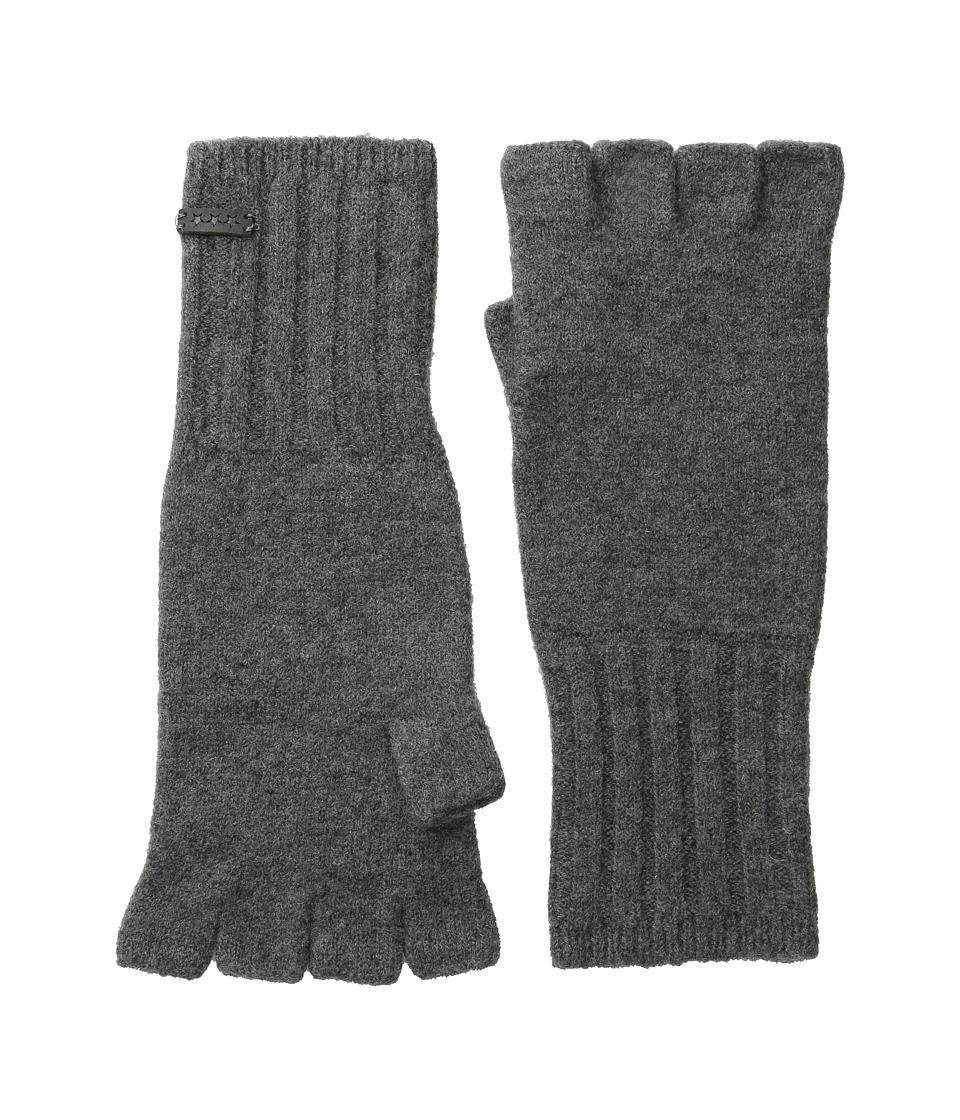 John Varvatos Star U.S.A. - Felted Wool Fingerless Knit Glove (Shark) Wool Gloves