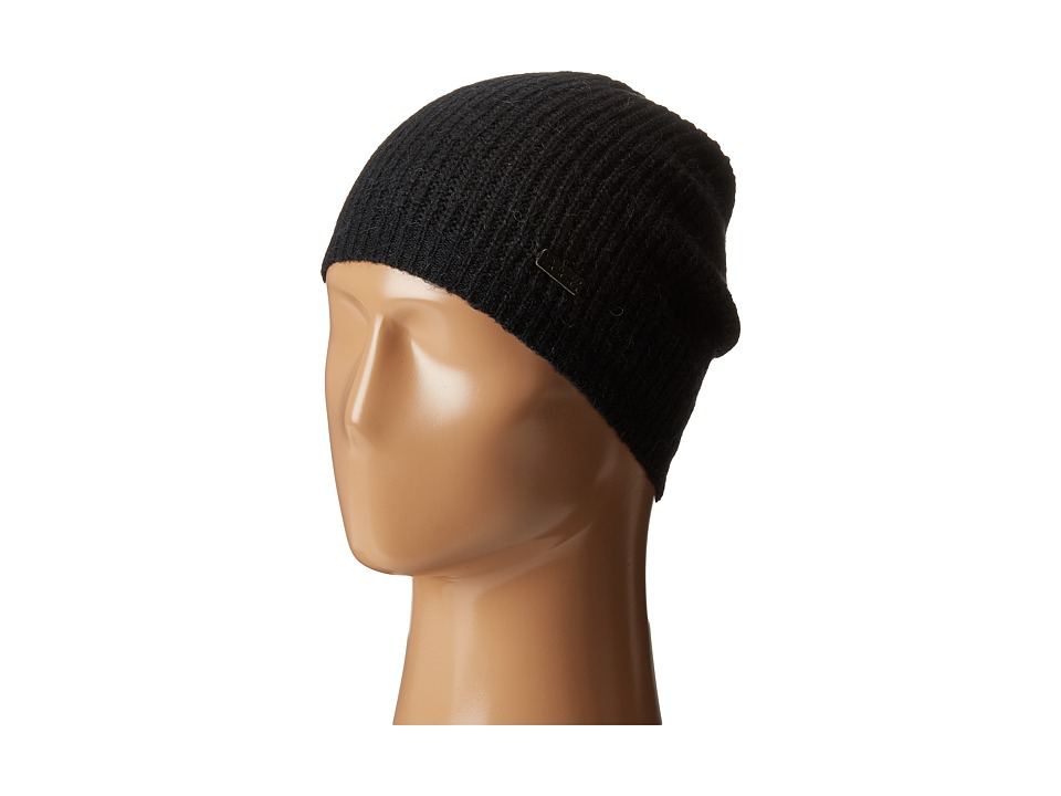 John Varvatos Star U.S.A. - Half Cardigan Slouchy Hat (Black) Knit Hats