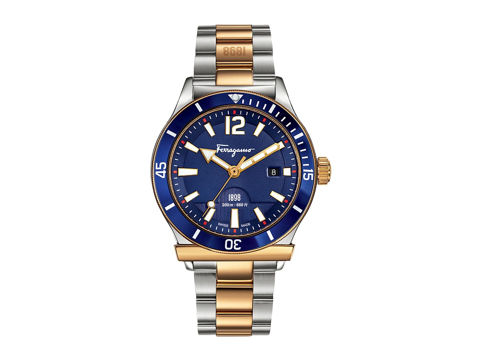 Salvatore Ferragamo - Ferragamo 1898 FF3280015 (Gold/Blue) Watches