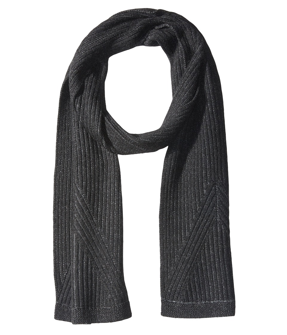 John Varvatos Star U.S.A. - Plated Rib Scarf (Black) Scarves