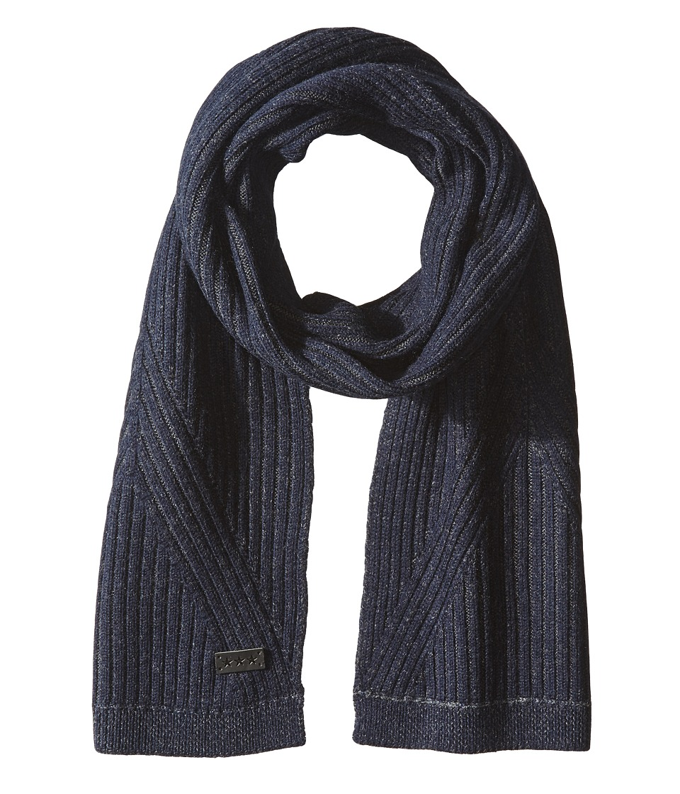 John Varvatos Star U.S.A. - Plated Rib Scarf (Midnight) Scarves
