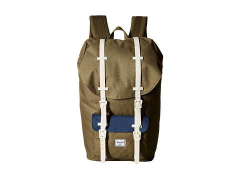 Herschel Supply Co. - Little America (Beech Crosshatch/Navy/Natural Rubber) Backpack Bags