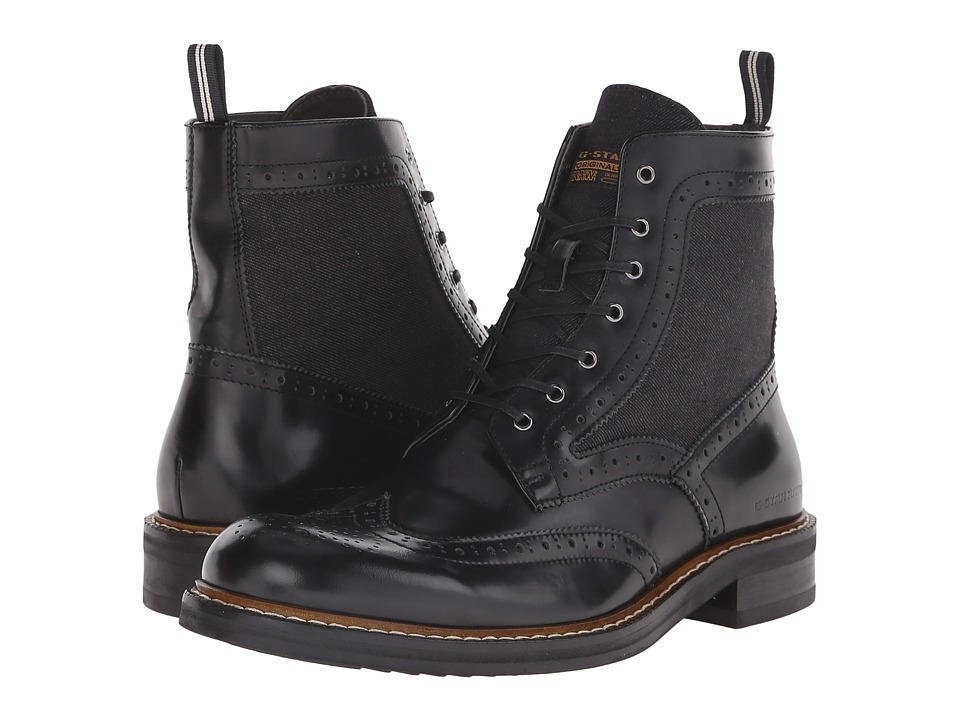 G-Star - Trent Boot Mix (Black/Denim) Men's Shoes