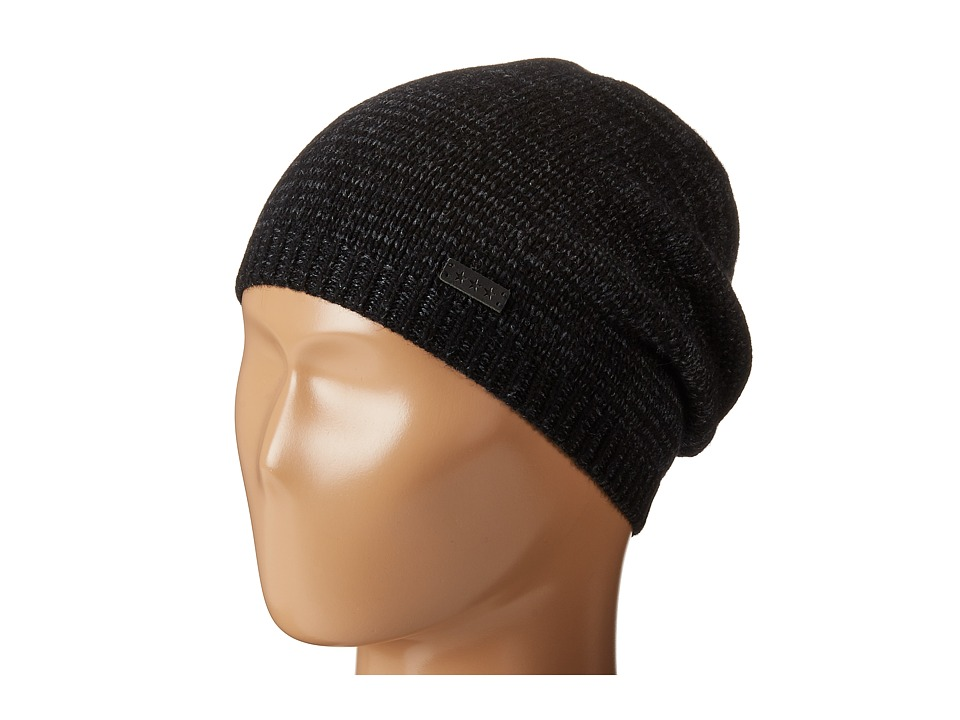 John Varvatos Star U.S.A. - Ombre Random Feed Knit Hat (Black) Knit Hats
