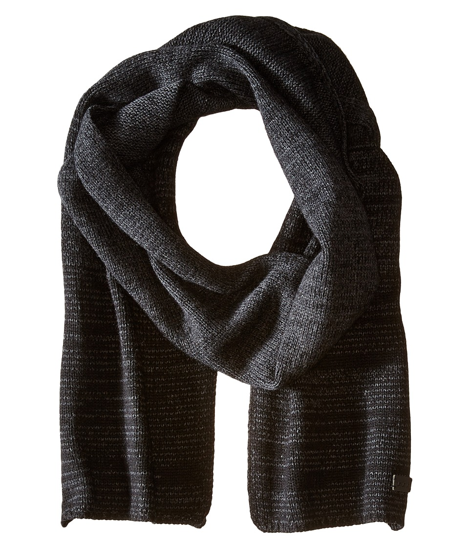 John Varvatos Star U.S.A. - Ombre Random Feed Knit Scarf (Black) Scarves