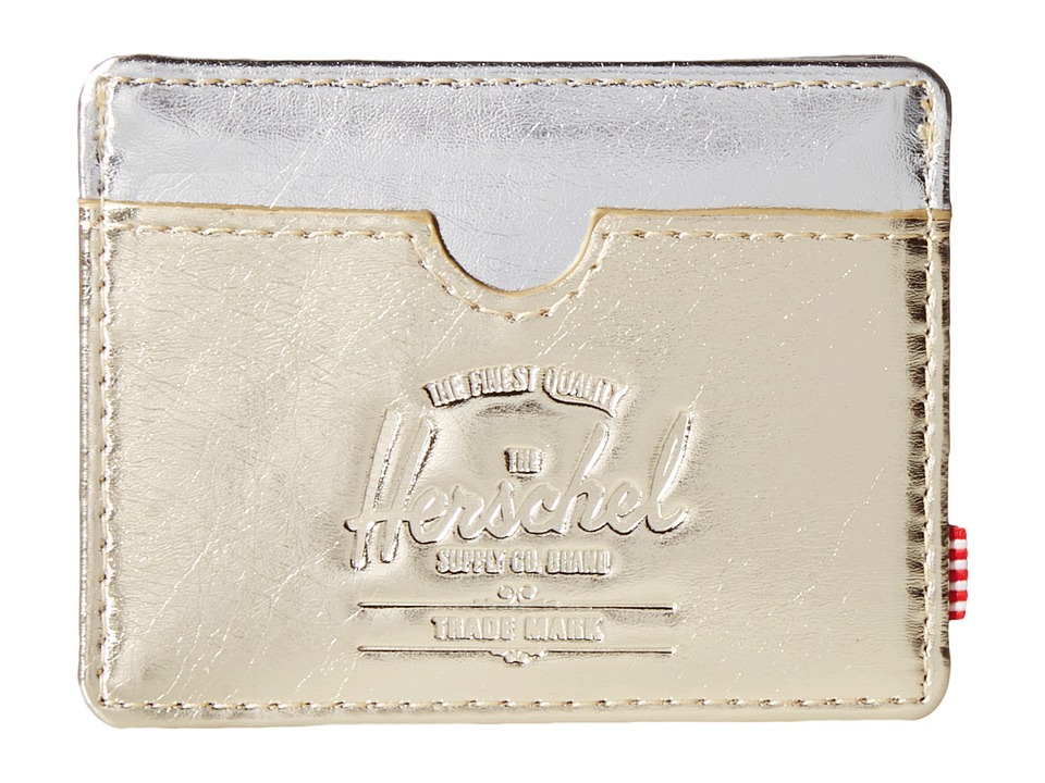 Herschel Supply Co. - Charlie (Textured Gold/Silver) Credit card Wallet