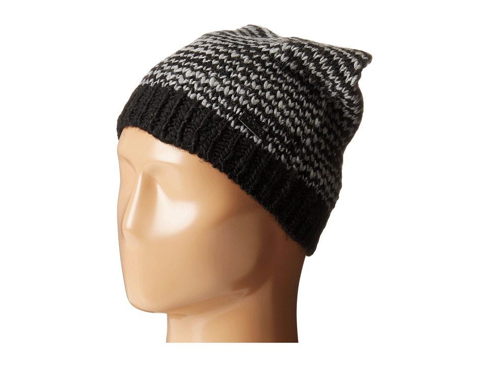 John Varvatos Star U.S.A. - Birdseye Stitch Slouchy Hat (Black) Caps