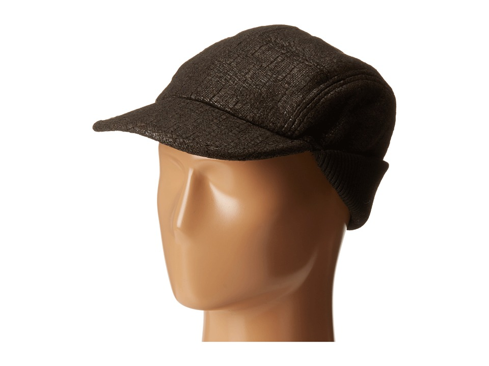 John Varvatos Star U.S.A. - Baseball Hat w/ Knit Warmer (Black) Caps