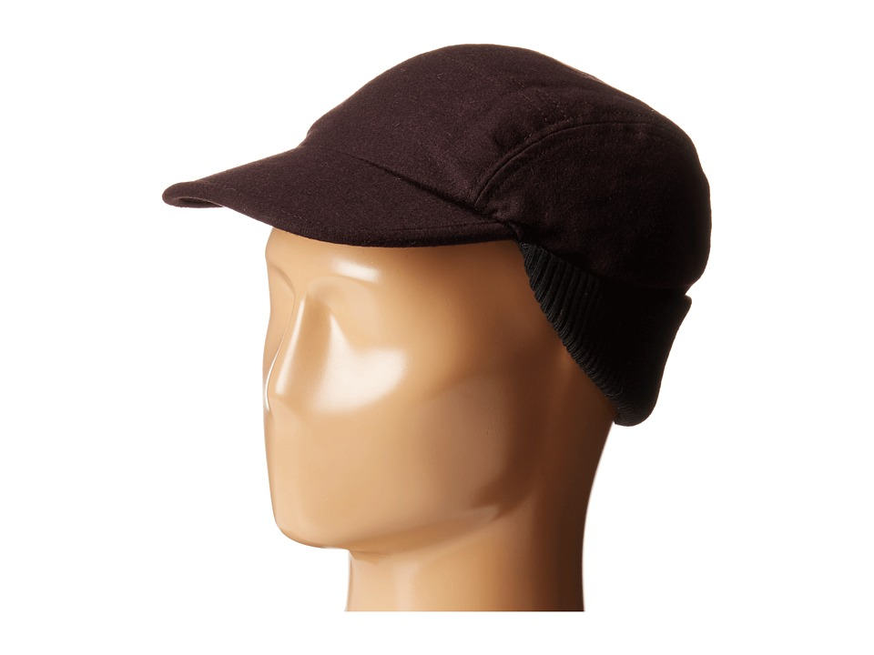 John Varvatos Star U.S.A. - Baseball Hat w/ Knit Warmer (Oxblood) Caps